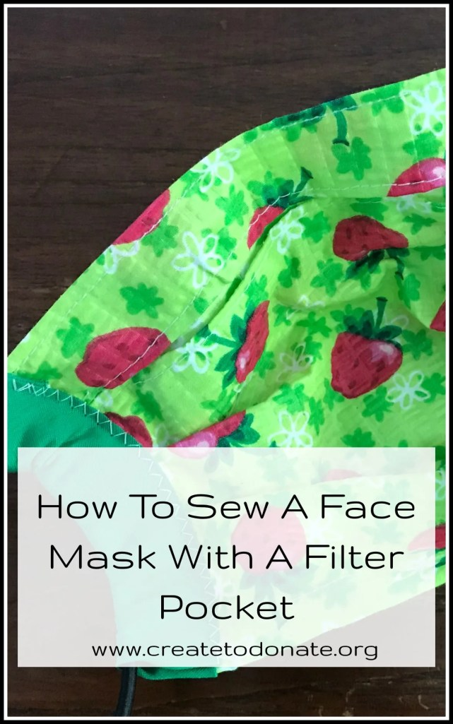 fabric face mask with filter pocoket