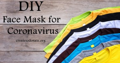 DIY face mask for Coronavirus
