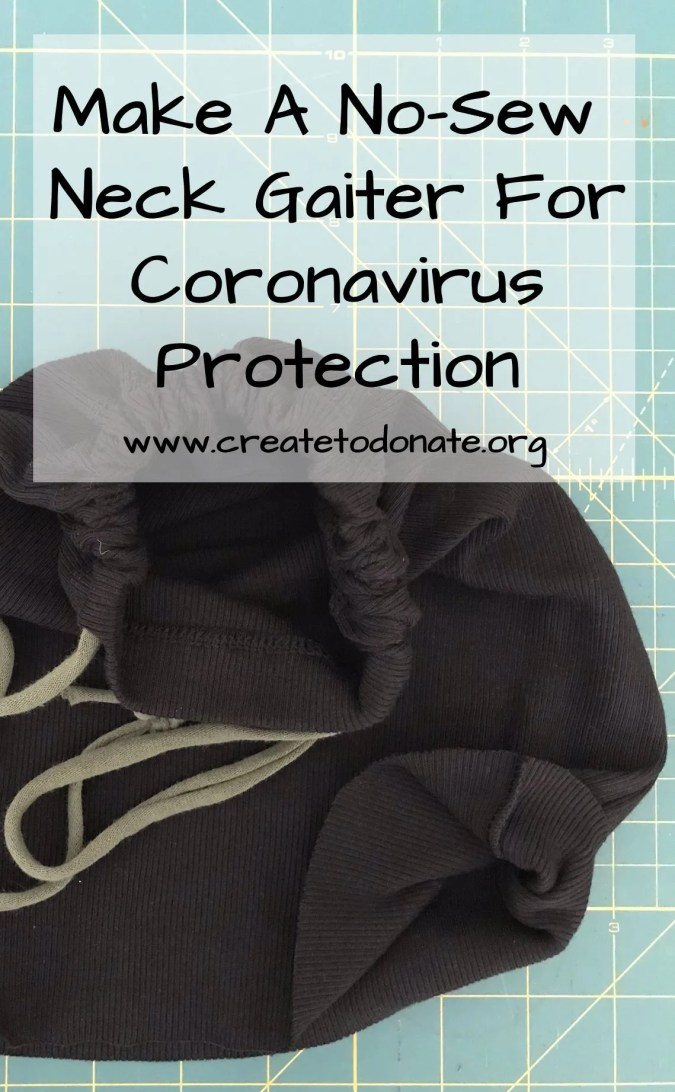 Tutorial for a no-sew neck gaiter for coronavirus from a tank top.