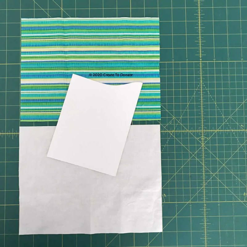 Materials for face mask with no pleats