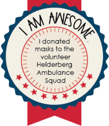 Make a mask donation to the Healderberg Ambulance Squad.
