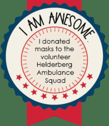 Make a mask donation to the Healderberg Ambulance Squad.
