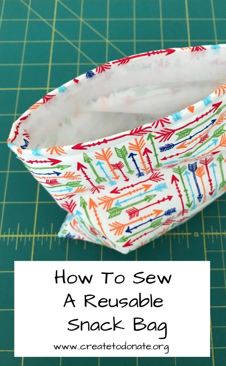 Sew a reusable snack back and you will reduce plastic waste.