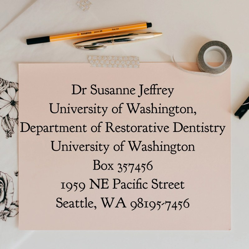 Address to UW Geriatric Dental Clinic