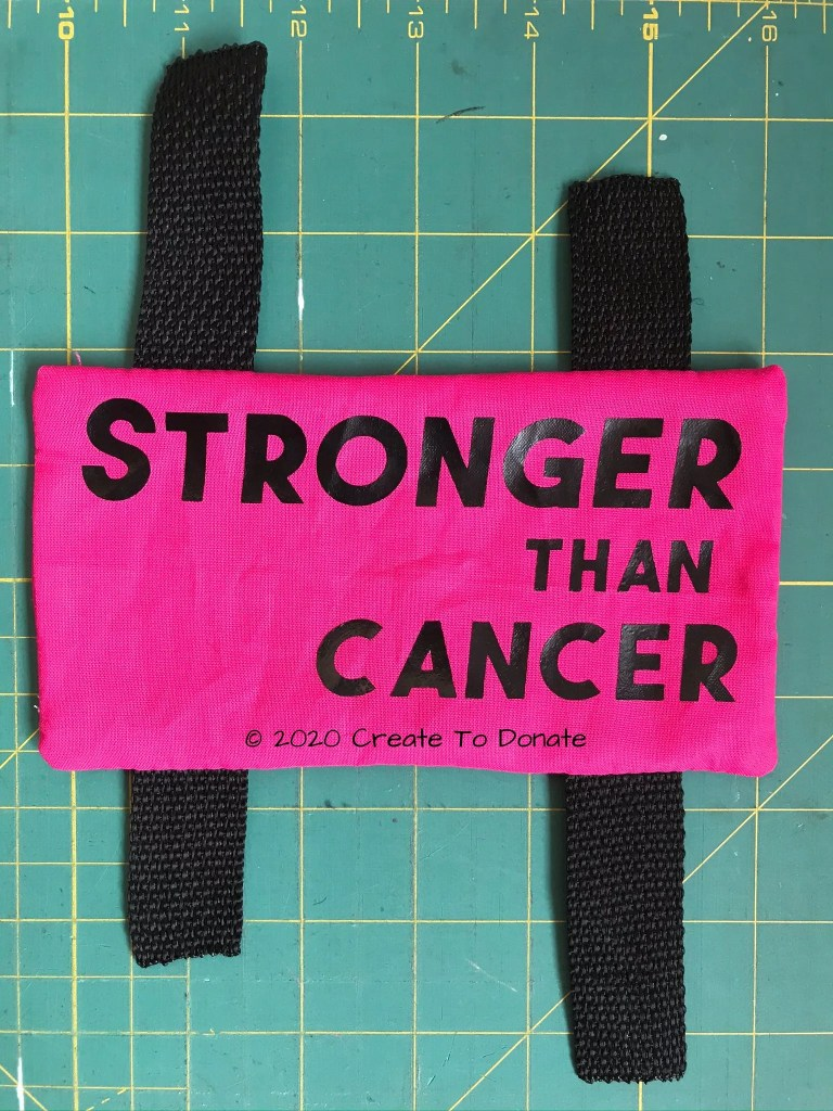 Stronger than cancer chemo port pillow Create To Donate