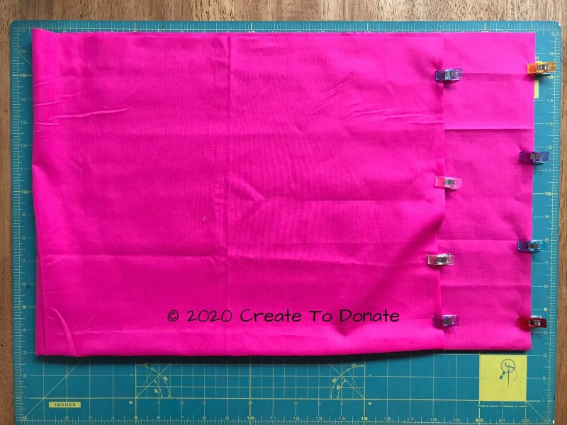 Clip sides and sew the pillow edges