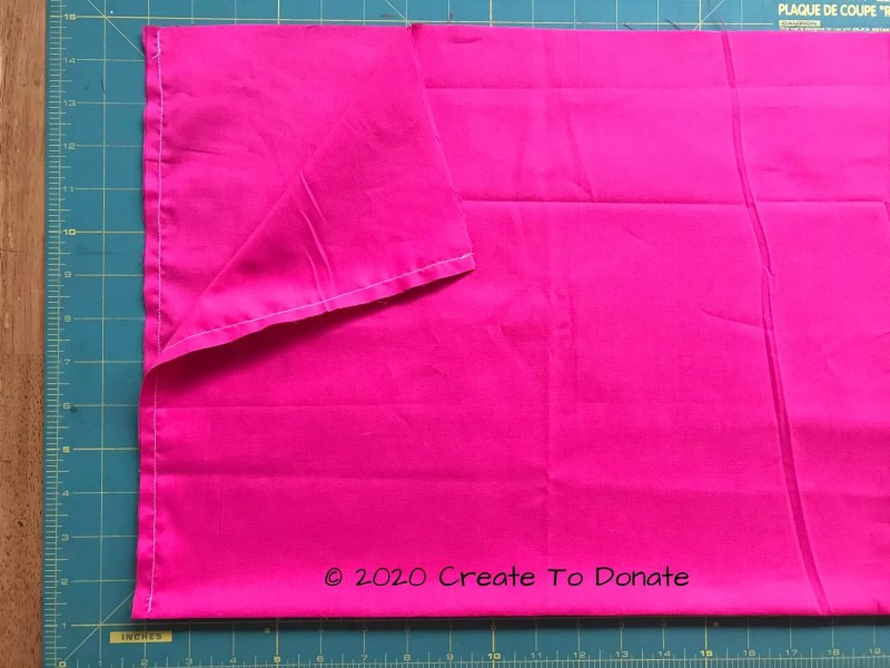 Sides sewn for breast cancer mastectomy pilllow