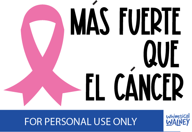 Mas fuerte que el cancer free svg Create To Donate