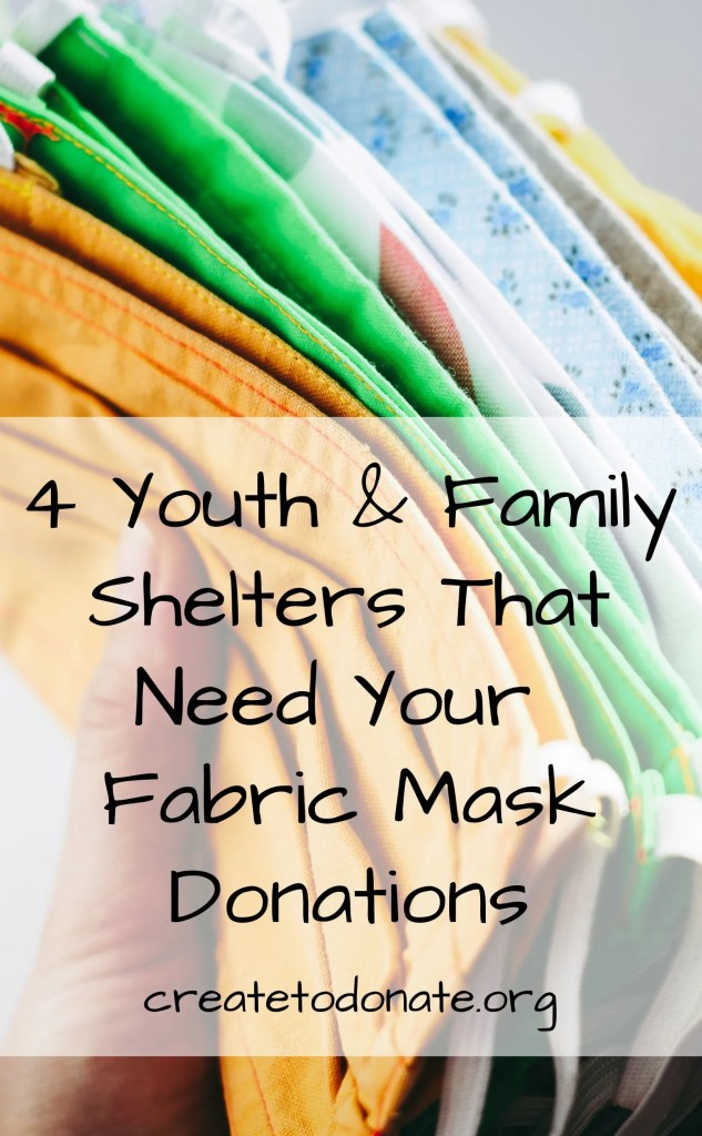 Mask donations needed for these shelter