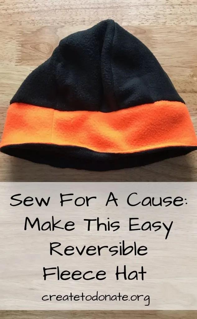 Reversible Fleece Hat Pattern : reversible, fleece, pattern, Cause:, Reversible, Fleece, Pattern, Create, Donate