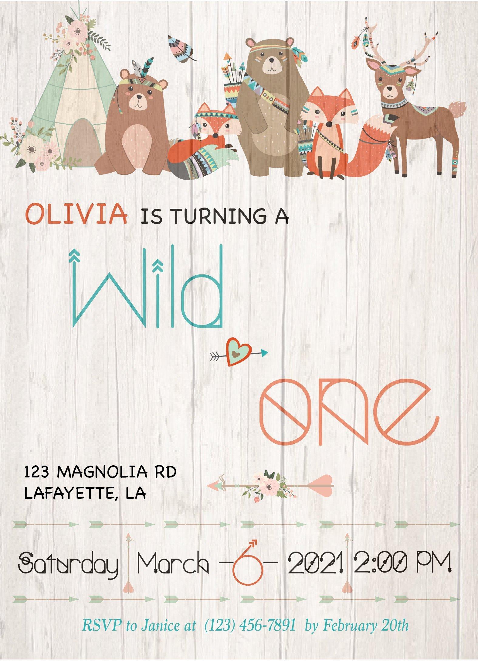 Wild One Invitation | Wild One Birthday Invitation Printable | Wild ...