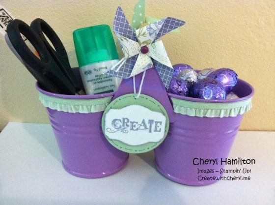 Createwithcheryl purple bucket