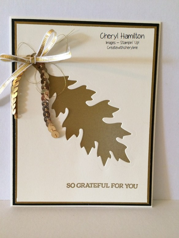 Create With Cheryl Golden Leaf