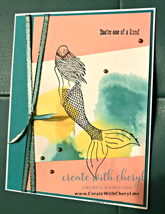 #magicalmermaid #createwithcheryl #cherylhamilton #stampinup #mermaid #soupoftheday