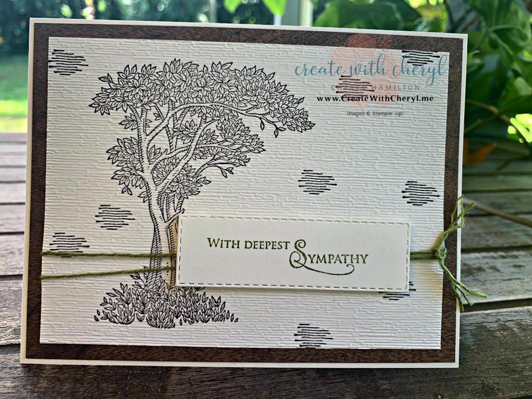 Golden Afternoon Sympathy Card #createwithcheryl #stampinup #goldenafternoon #sympathycard