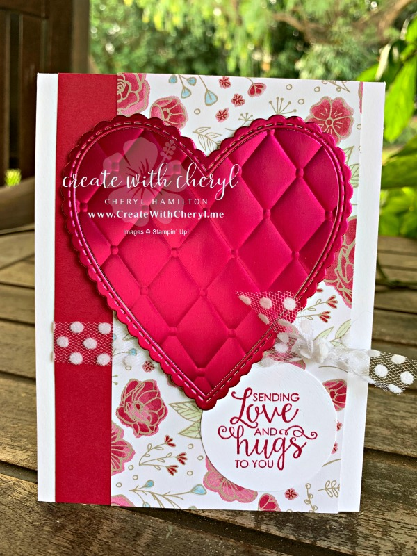 Valentine Card #createwithcheryl #valentinesday #stampinup #icsbloghop