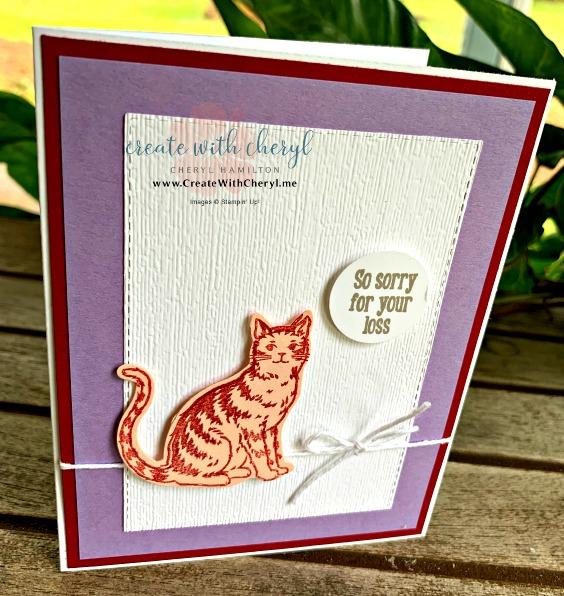 #createwithcheryl #stampinup #ninelives #handmadecards