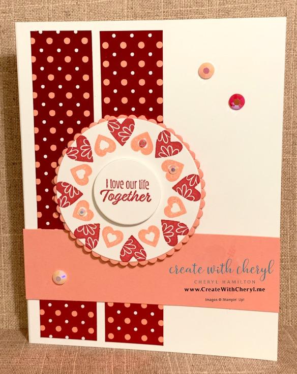 Stamping in the Round Technique #valentine #createwithcheryl #diyvalentine #handmadecards