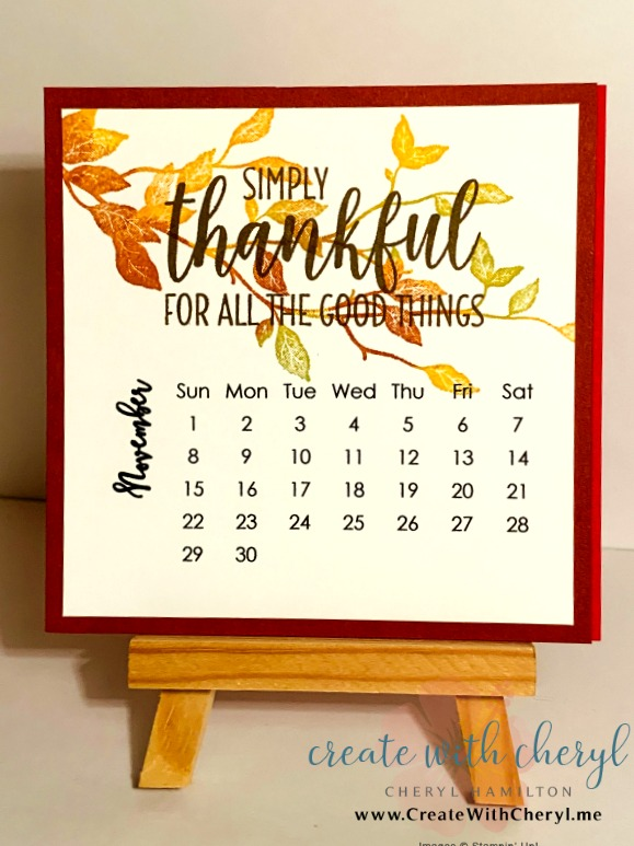 November 2020 Calendar#cherylhamilton #createwithcheryl #stampinup #rubberstamping #diy #crafts #papercrafting #handmadecards #papercrafter #craftblogger #simplestamping #bethankful