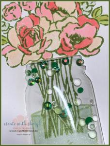 Jar of Flowers in Mason Jar Shaker Card