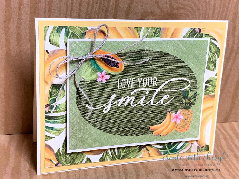 Love your Smile Card with bananas & papayas