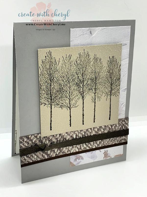Winter Woods Masculine Card Cheryl Hamilton