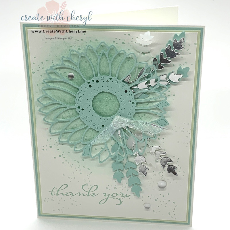 Sunflower Thank You Card in Blue