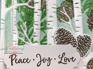 Peaceful Boughs Inked Embossing Folder Technique