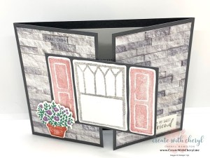Welcoming Window Gate Fold Card #createwithcheryl