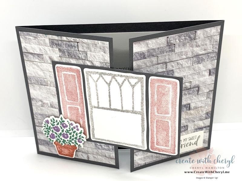 Welcoming Window Gate Fold Card #createwithcheryl