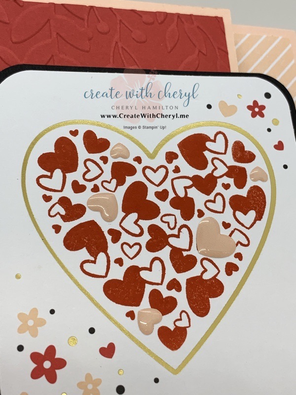 Paper Pumpkin Sending Hearts Valentine Card