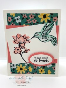 A Touch of Ink 2 Step Stamping Card
