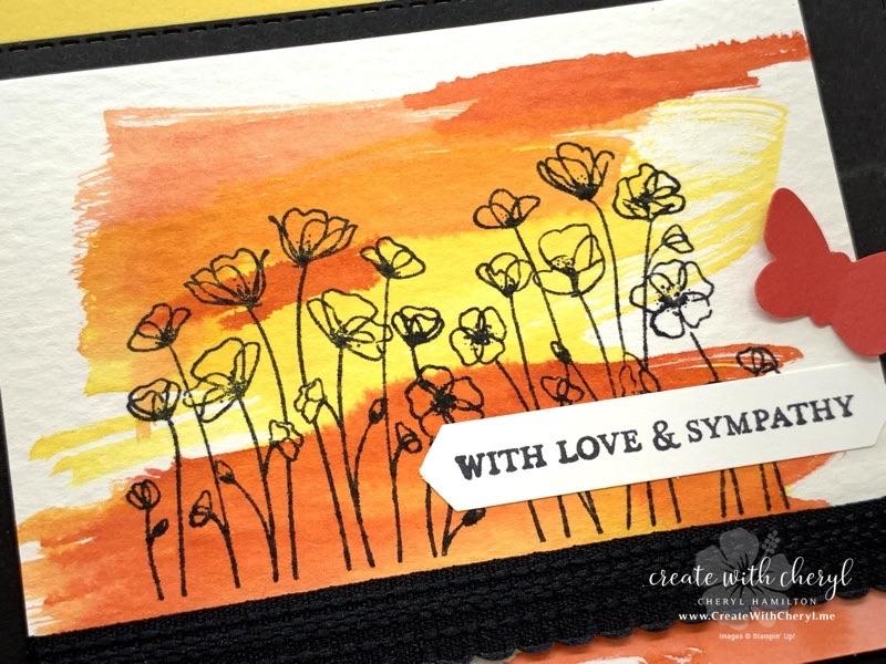 Five Minute Watercolor Card Cheryl Hamilton