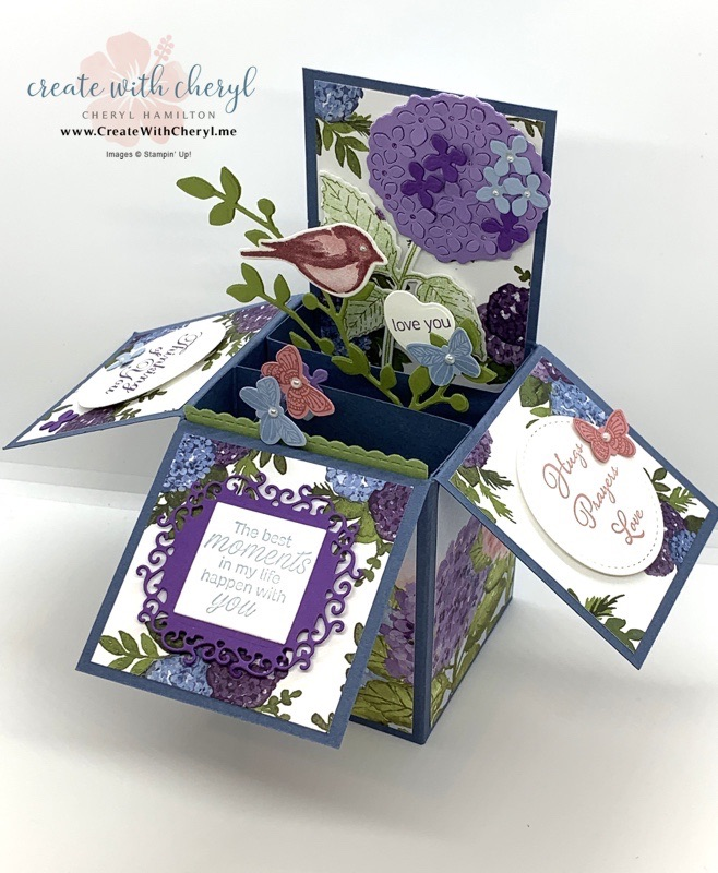 Hydrangea Haven Card in a Box #cherylhamilton