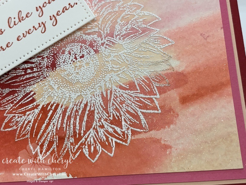 Celebrate Sunflowers Monochrome Card