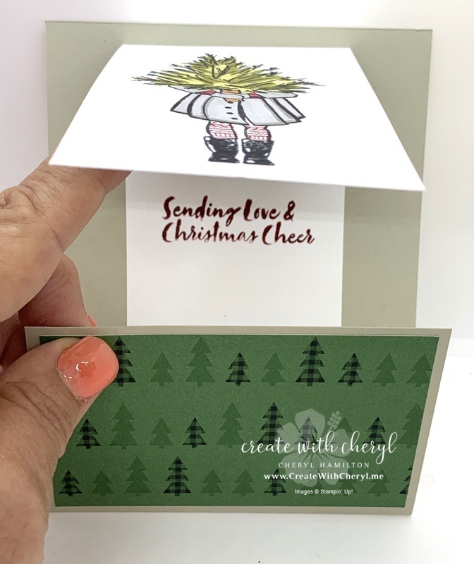 Delivering Cheer Fun Fold Card