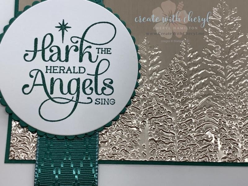 Evergreen Forest 3D Embossing Folder Christmas Card