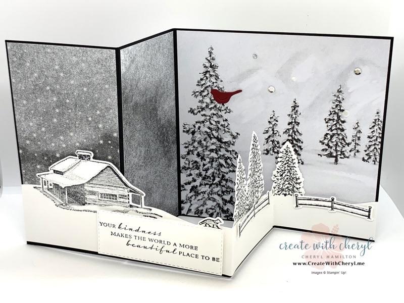 Peaceful Cabin Z Fold Card