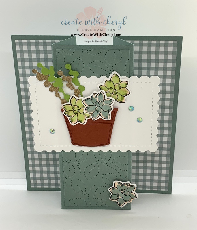 Simply Succulents Center Pop-Out Card