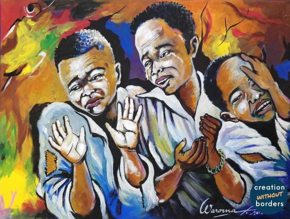 Les Trois Garcons en Tortures by Jean Paul Waroma, DRC