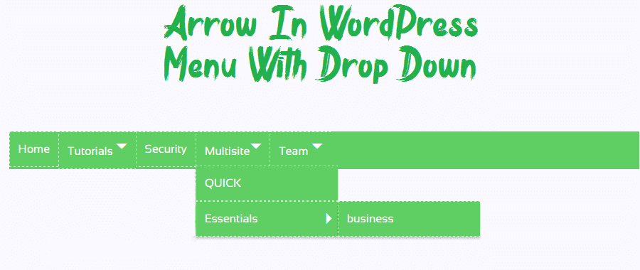 How To Add Arrow In Wordpress Menus With Css No Jquery Or Php