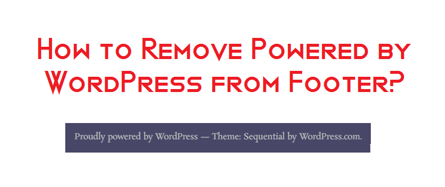 remove powered by WordPress theme footer