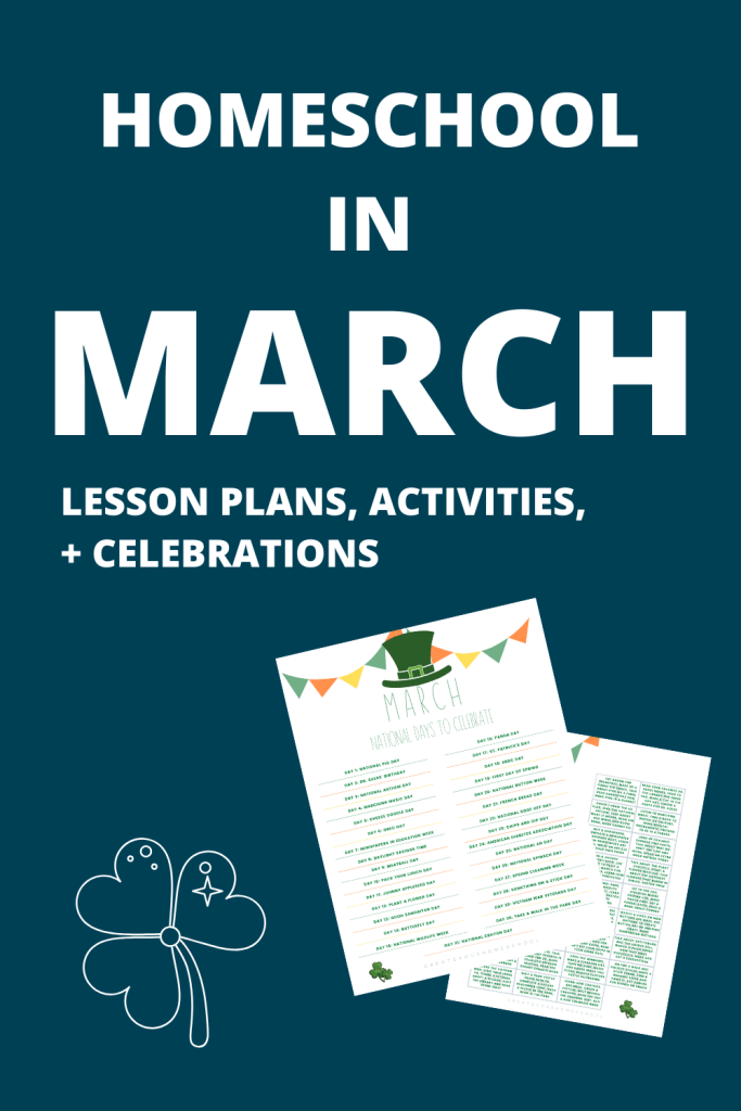 Homeschool in March // Ever feel STUCK?! You have no idea what to teach about, the kids are antsy, and everyone just needs a break?! Read this.