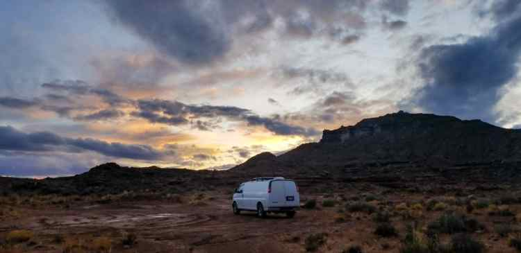 Boondocking in Utah BLM land
