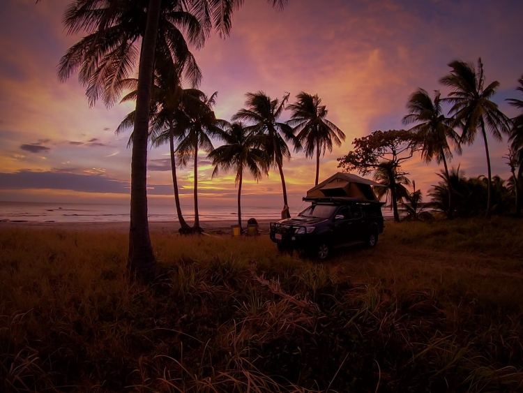 Camping on Playa Coco Nicoya Peninsula Costa Rica