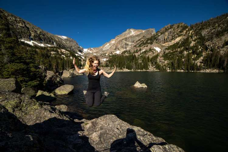 Lake Haiyaha in Rocky Mountain National Park