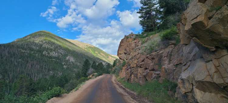 Old Fall River Road in Rocky Mountain National Park