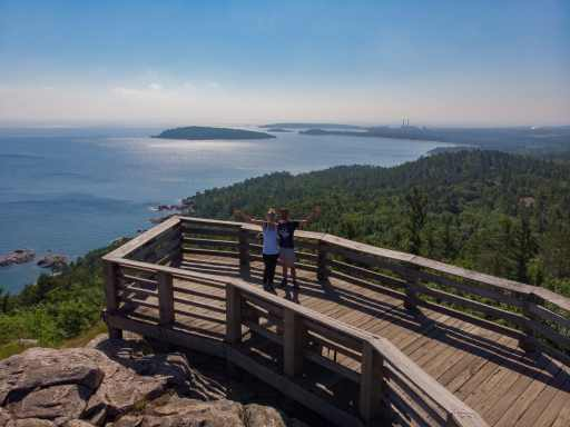 View from Sugarloaf Mountain in Marquette