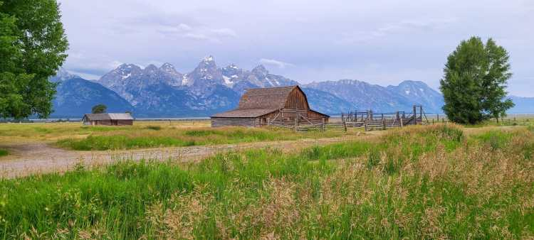 Mormon Row in Grand Tetons Wyoming
