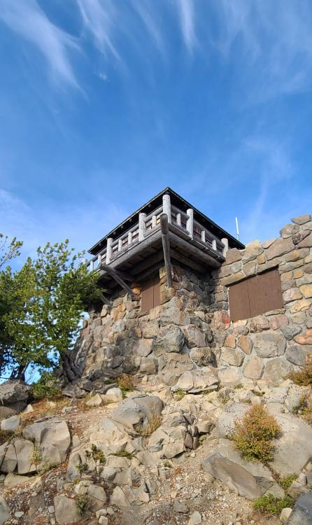 Watchman Lookout Tower at Crater Lake National Park